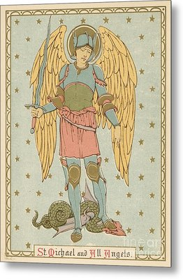 St Michael And All Angels By English School Metal Print by English School