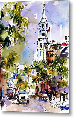 St Michael's Church Charleston South Carolina Metal Print by Ginette Callaway
