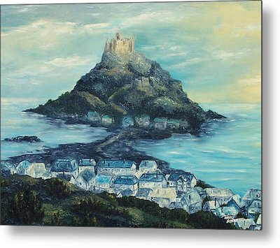 St. Michael's Mount Metal Print by Terry Albert