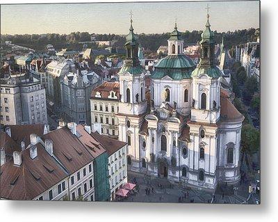St Nicholas Prague Metal Print by Joan Carroll