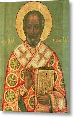 St. Nicholas Metal Print by Russian School
