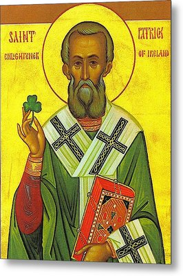 St Patrick And The Shamrock Metal Print
