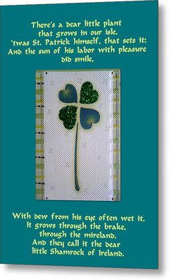 St. Patrick's Day Greetings Metal Print