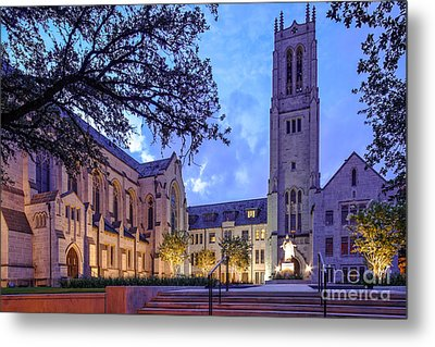 St. Paul's United Methodist Church - Houston Texas Metal Print by Silvio Ligutti