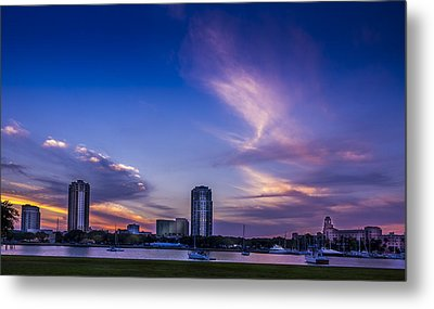 St. Pete At Sunset Metal Print by Marvin Spates