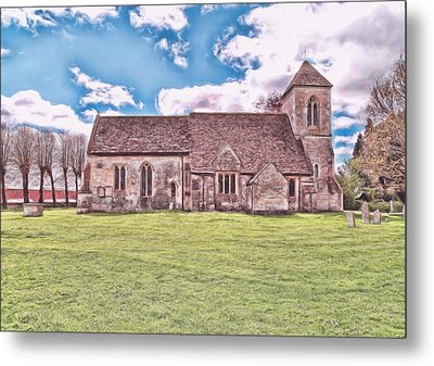 Metal Print featuring the photograph St Peters Church 3 by Paul Gulliver