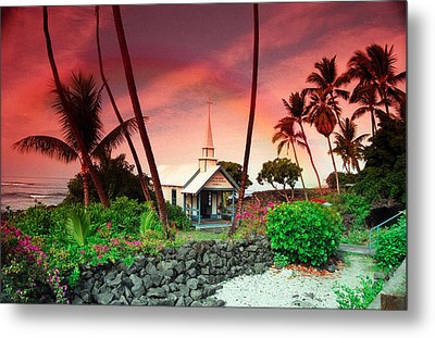 Metal Print featuring the photograph St Peters Church by Randy Sylvia