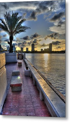 St. Petersburg Pier Metal Print by Timothy Lowry
