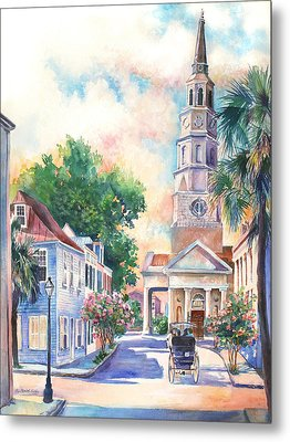 St. Philips Episcopal Church Metal Print by Alice Grimsley