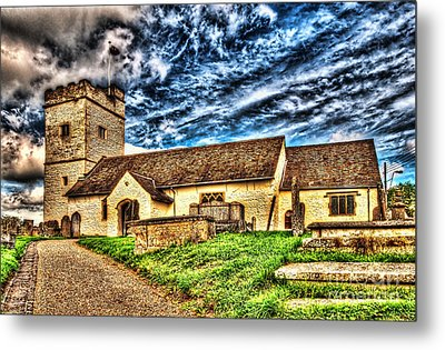 St Sannans Church Bedwellty Metal Print
