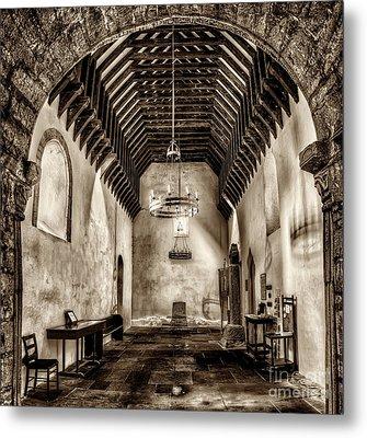 St Seirio Church Metal Print by Adrian Evans