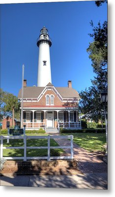 Metal Print featuring the photograph St. Simons Island Light Station by Gordon Elwell