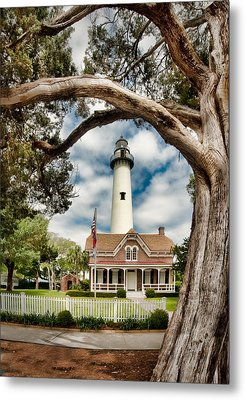 St. Simons Island Lighthouse  Metal Print by Brent Craft