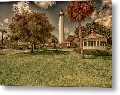 St. Simon's Island Lighthouse Metal Print by J Riley Johnson