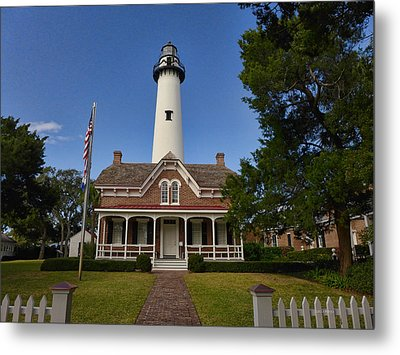 St. Simons Light Metal Print