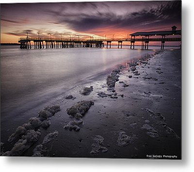 St. Simons Pier At Sunset Metal Print