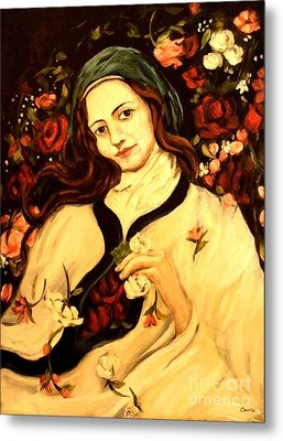 St. Therese Metal Print by Carrie Joy Byrnes