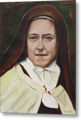 St. Therese Of Lisieux Metal Print by Sheila Diemert