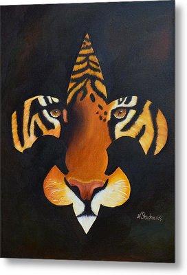 St. Tiger Metal Print by Nina Stephens