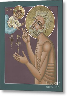 Metal Print featuring the painting St. Vasily The Holy Fool 246 by William Hart McNichols