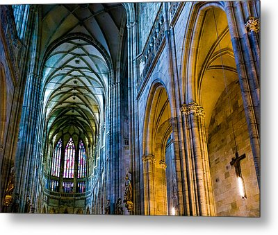 St Vitus Cathedral Metal Print by Dave Bowman
