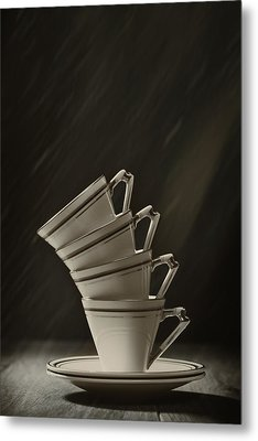 Stack Of Cups Metal Print by Amanda Elwell