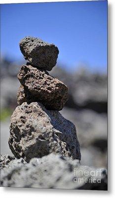 Stack Of Volcanic Stones Metal Print
