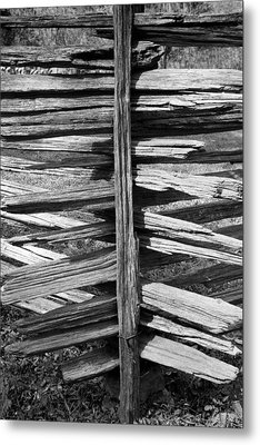 Stacked Fence Metal Print by Lynn Palmer