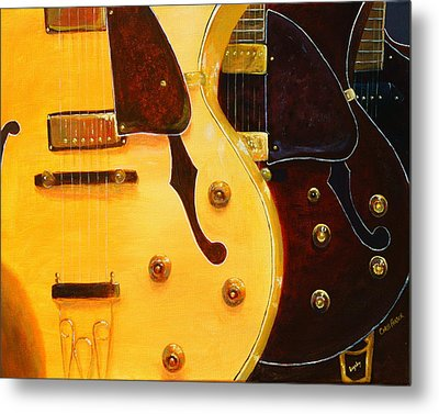 Stacked Guitars Metal Print by Chris Fraser