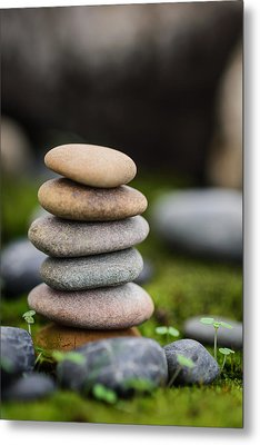 Stacked Stones B2 Metal Print by Marco Oliveira