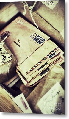 Stacks Of Old Mail Metal Print by Birgit Tyrrell