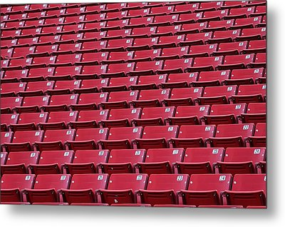 Metal Print featuring the photograph Stadium Seating by Trever Miller