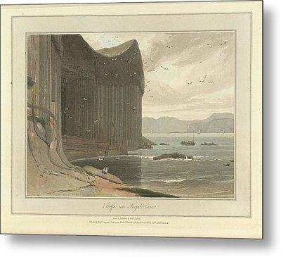 Staffa Coastline Near Fingal's Cave Metal Print by British Library