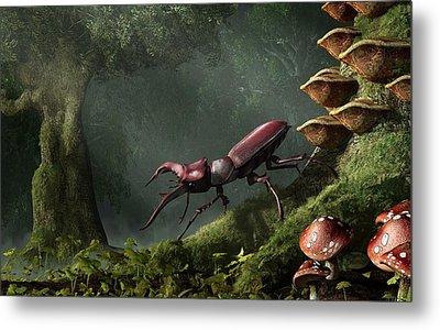 Stag Beetle Metal Print by Daniel Eskridge