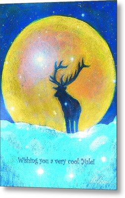 Stag Of Winter Metal Print