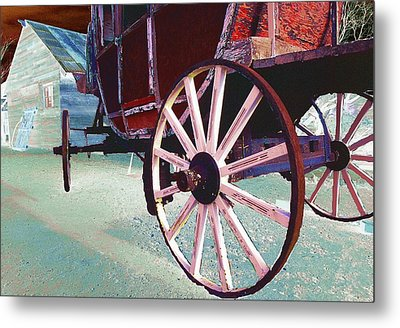 Stage Coach 1 Metal Print by Kae Cheatham