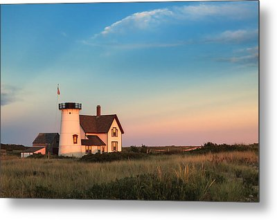 Stage Harbor Lighthouse Metal Print by Bill Wakeley