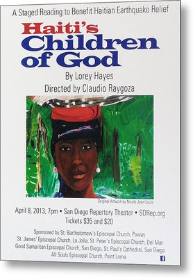 Staged Reading To Benefit Haitian Earthquake Relief Metal Print by Nicole Jean-Louis
