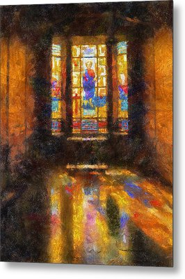 Stained Glass 04 Photo Art Metal Print by Thomas Woolworth