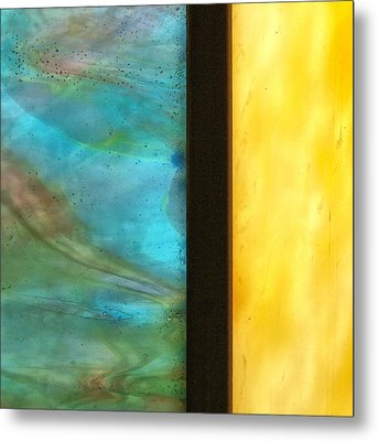 Stained Glass 1 Metal Print by Tom Druin