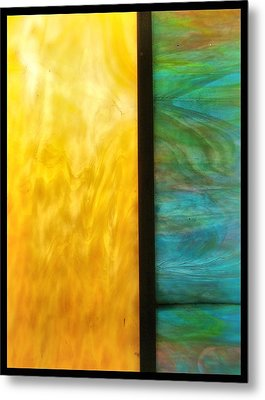 Stained Glass 4 Border Metal Print by Tom Druin