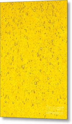 Stained Glass Abstract Yellow Metal Print