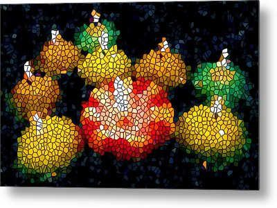 Stained Glass Candle 1 Metal Print by Lanjee Chee