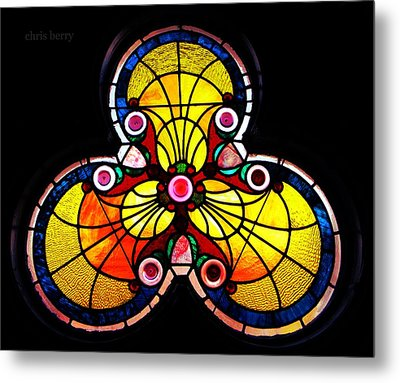 Stained Glass  Metal Print by Chris Berry