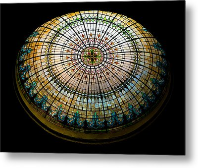 Stained Glass Dome - 1 Metal Print by Stephen Stookey
