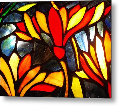 Stained Glass Eight Metal Print