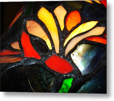 Stained Glass Five Metal Print