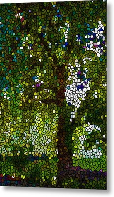 Stained Glass Forest Trees Metal Print by Lanjee Chee
