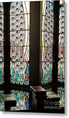 Stained Glass Metal Print by Lawrence Burry