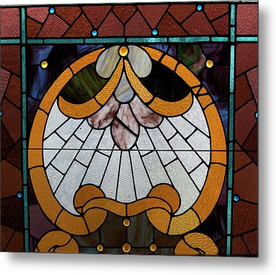 Stained Glass Lc 09 Metal Print by Thomas Woolworth